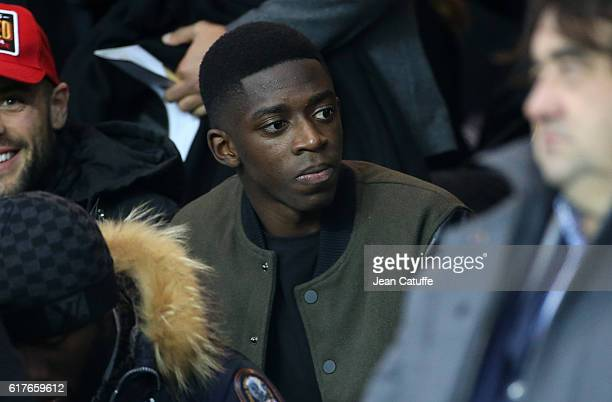 Ousmane Dembele attends the French Ligue 1 match between Paris SaintGermain PSG and Olympique de Marseille at Parc des Princes stadium on October 23...