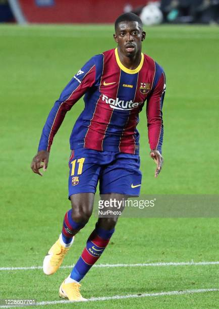 Ousmane Dembele during the Joan Gamper Trophy match between FC Barcelona and Elche CF, played at the Camp Nou Stadium, on 19th September 2020, in...