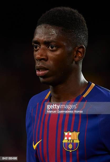 Ousmane Dembele of Barcelona looks on after the La Liga match between Barcelona and Espanyol at Camp Nou on September 9 2017 in Barcelona Spain