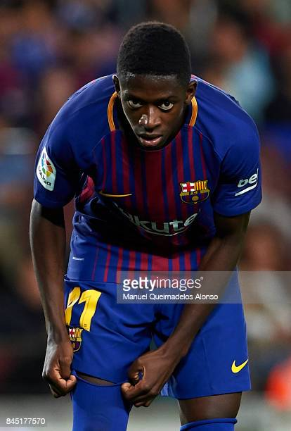 Ousmane Dembele of Barcelona looks on during the La Liga match between Barcelona and Espanyol at Camp Nou on September 9 2017 in Barcelona Spain