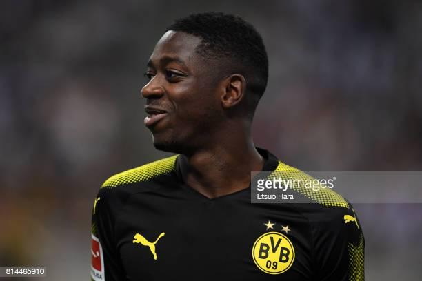 Ousmane Dembele of Borussia Dortmund during a training session ahead of the friendly match against Urawa Red Diamonds at Saitama Stadium on July 14...