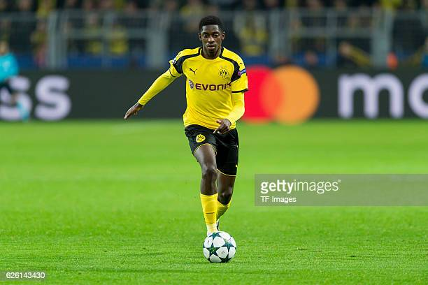 Ousmane Dembele of Borussia Dortmund in action during the UEFA Champions League First Qualifying Round 2nd Leg match between Borussia Dortmund and...