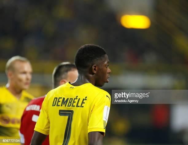 Ousmane Dembele of Borussia Dortmund looks on during the DFL Super Cup 2017 final match between Borussia Dortmund and Bayern Munich at Signal Iduna...