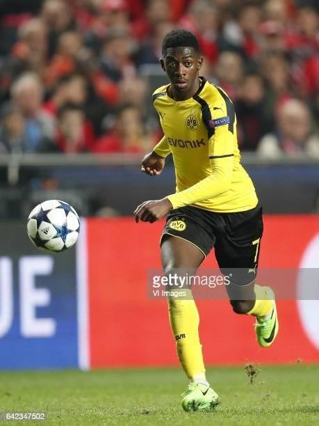 Ousmane Dembele of Borussia Dortmundduring the UEFA Champions League round of 16 match between SL Benfica and Borussia Dortmund on February 14 2017...