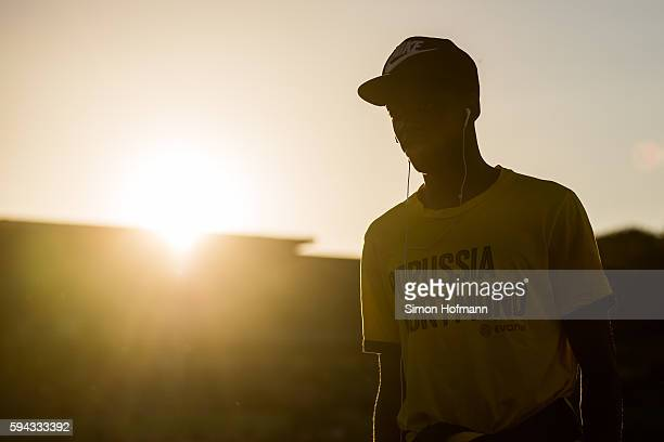 Ousmane Dembele of Dortmund looks on prior to the DFB Cup match between Eintracht Trier and Borussia Dortmund at Moselstadion on August 22 2016 in...