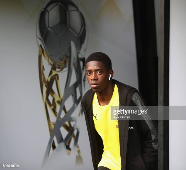 Ousmane Dembele of Dortmund walks out of the tunnel prior to the DFL Supercup 2017 match between Borussia Dortmund and Bayern Muenchen at Signal...