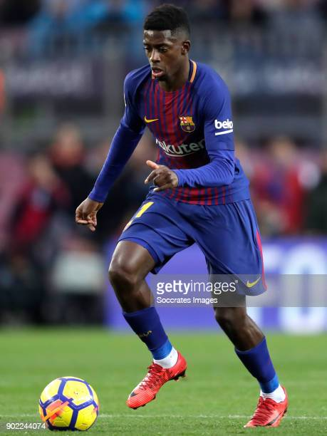 Ousmane Dembele of FC Barcelona during the La Liga Santander match between FC Barcelona v Levante at the Camp Nou on January 7 2018 in Barcelona Spain