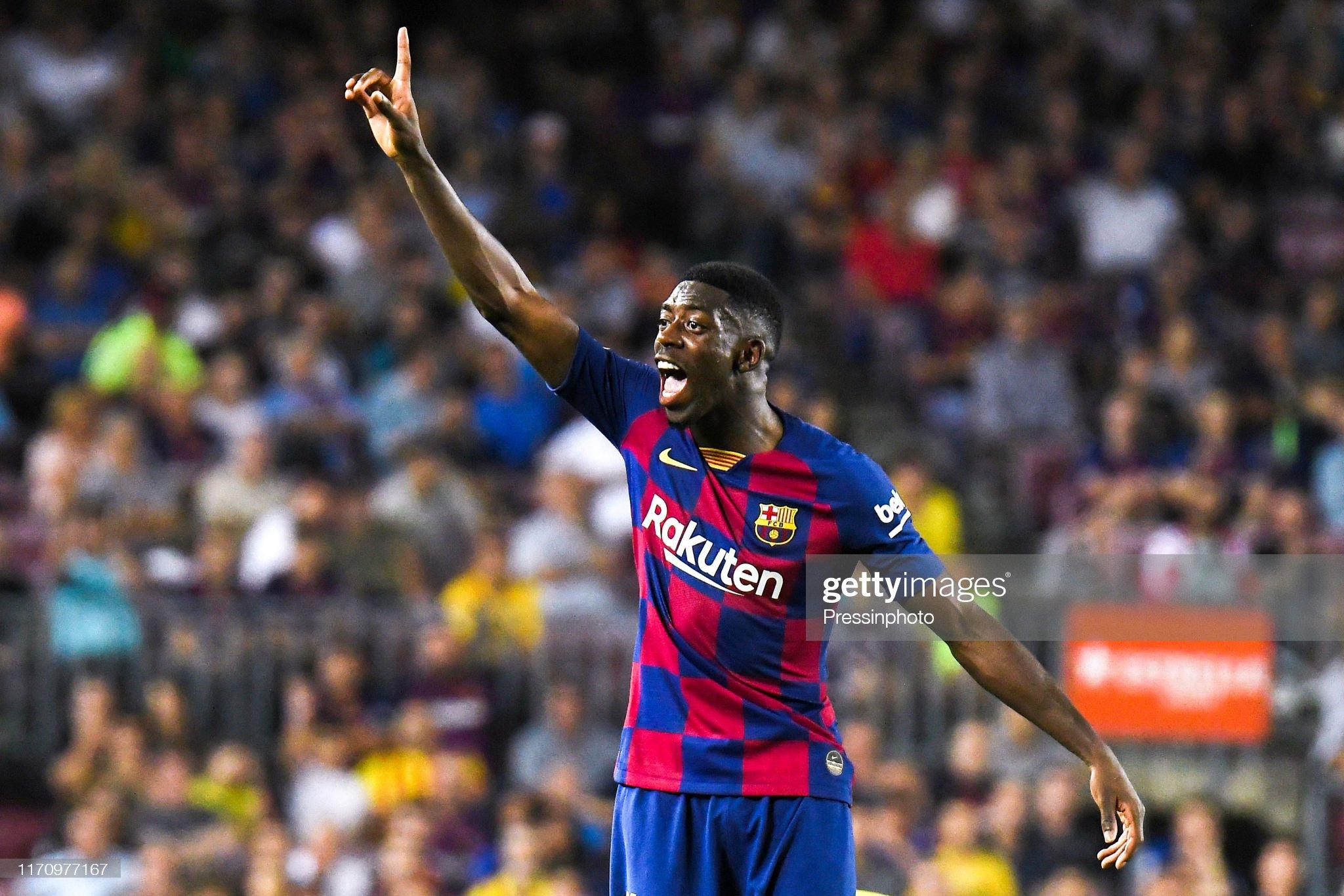 صور مباراة : برشلونة - فياريال 2-1 ( 24-09-2019 )  Ousmane-dembele-of-fc-barcelona-during-the-liga-match-between-and-picture-id1170977167?s=2048x2048