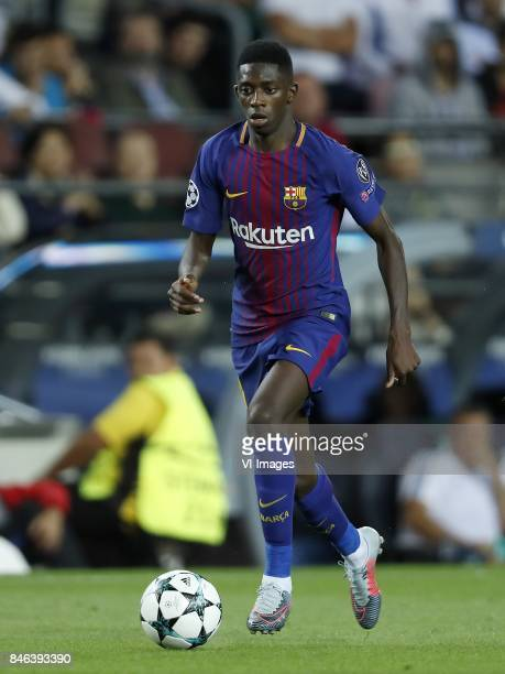 Ousmane Dembele of FC Barcelona during the UEFA Champions League group D match between FC Barcelona and Juventus FC on September 12 2017 at the Camp...