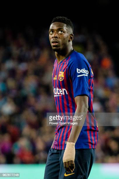 Ousmane Dembele of FC Barcelona in action during the La Liga match between Barcelona and Real Sociedad at Camp Nou on May 20 2018 in Barcelona