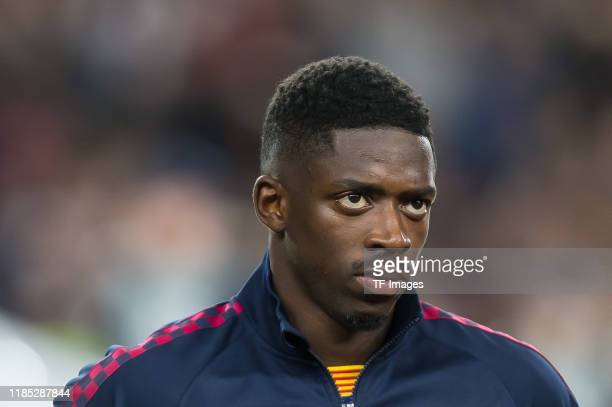 Ousmane Dembele of FC Barcelona looks on during the UEFA Champions League group F match between FC Barcelona and Borussia Dortmund at Camp Nou on...