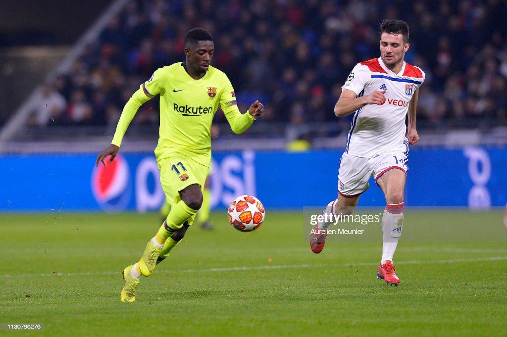 Olympique Lyonnais v FC Barcelona - UEFA Champions League Round of 16: First Leg : News Photo