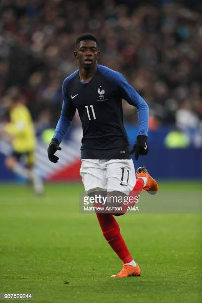Ousmane Dembele of France during the International Friendly match between France and Colombia at Stade de France on March 23 2018 in Paris France