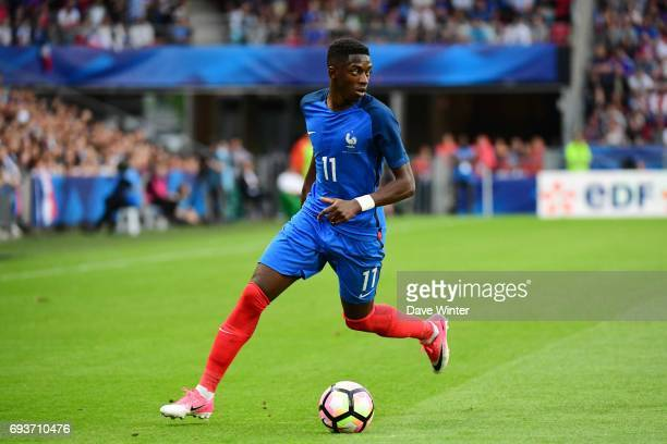 Ousmane Dembele of France during the soccer friendly match between France and Paraguay at Roazhon Park on June 2 2017 in Rennes France
