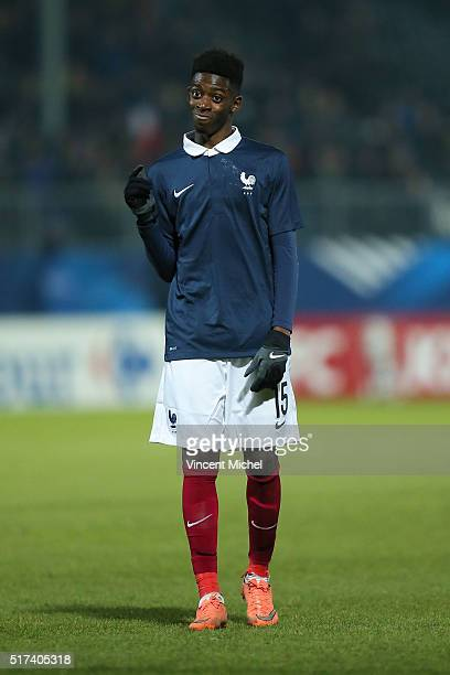 Ousmane Dembele of France during the Uefa U21 European Championship qualifier between France and Scotland at Stade Jean Bouin on March 24, 2016 in...