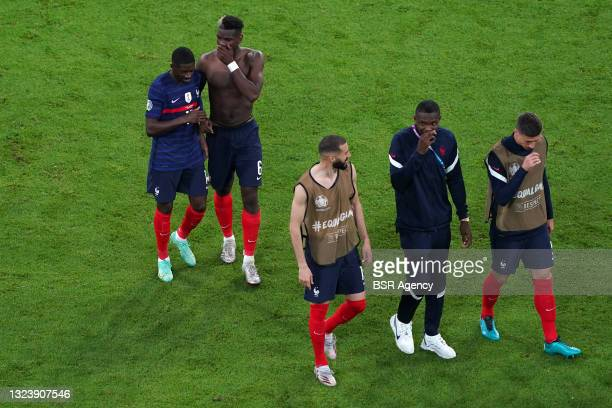 Ousmane Dembele of France, Paul Pogba of France during the UEFA Euro 2020 match between France and Germany at Allianz Arena on June 15, 2021 in...