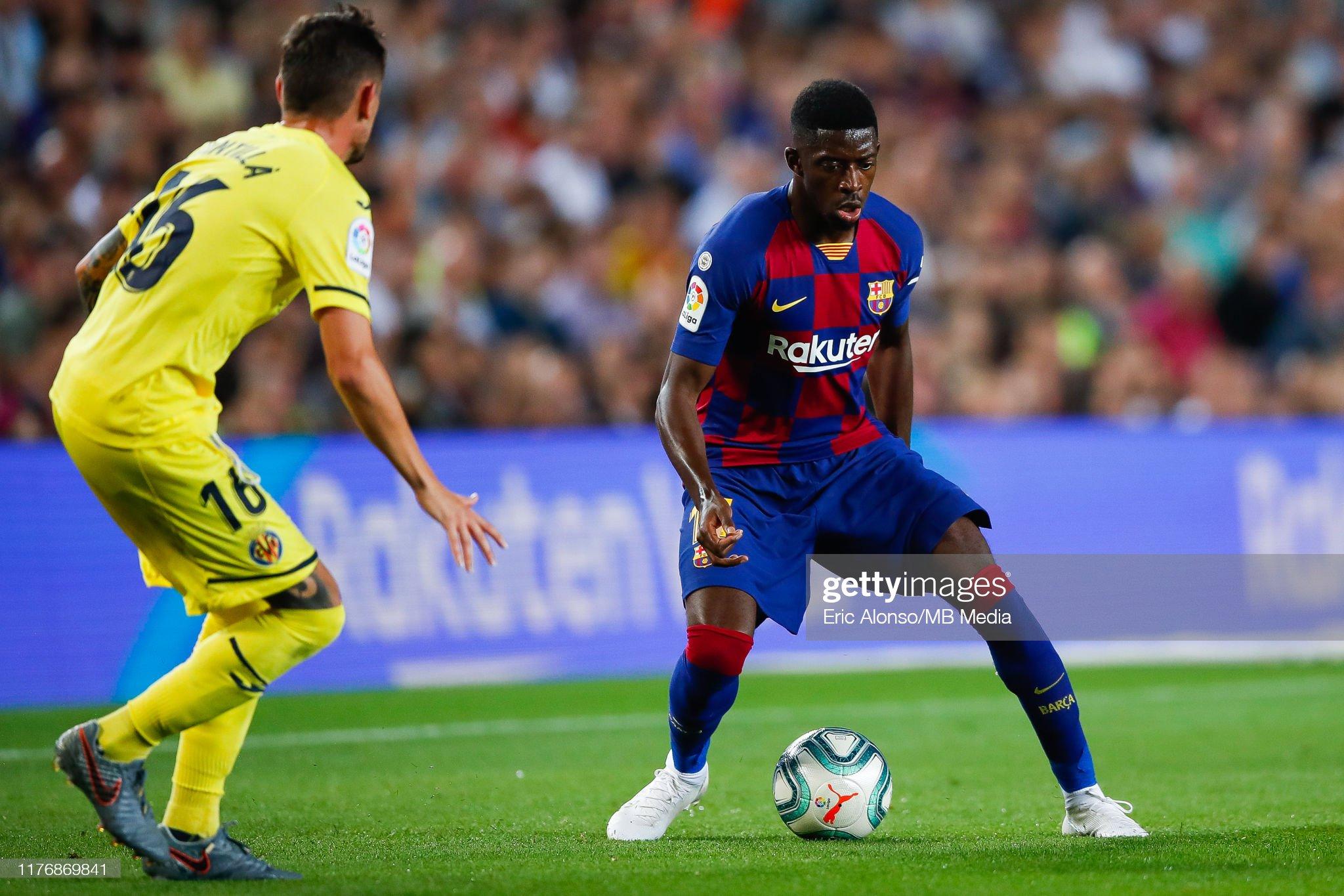 صور مباراة : برشلونة - فياريال 2-1 ( 24-09-2019 )  Ousmane-demebele-of-fc-barcelona-challenge-for-the-ball-against-of-picture-id1176869841?s=2048x2048