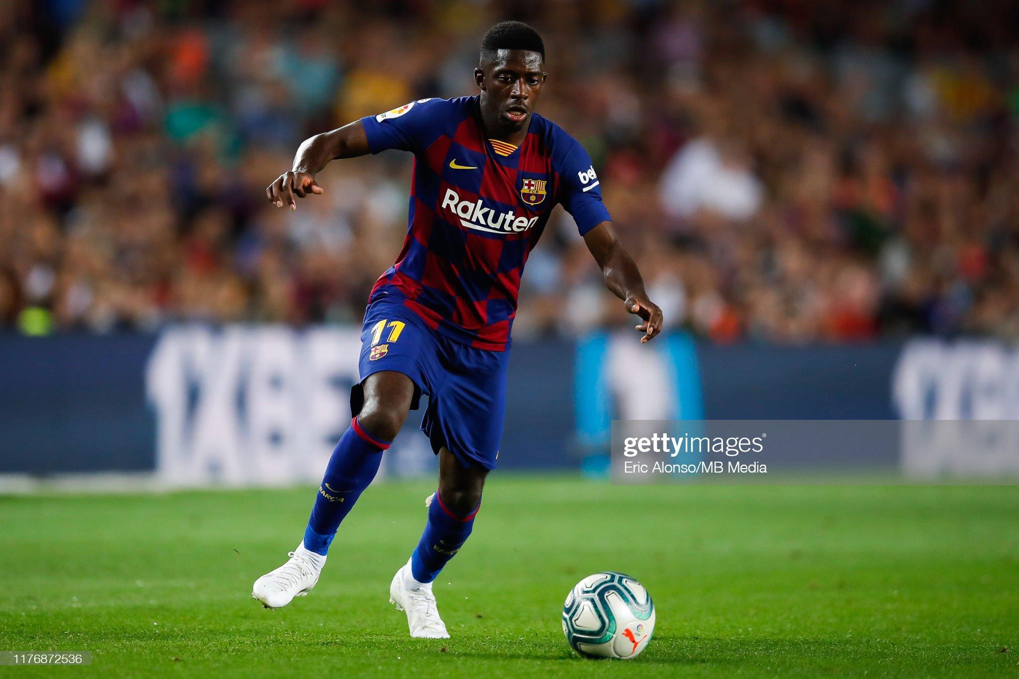 صور مباراة : برشلونة - فياريال 2-1 ( 24-09-2019 )  Ousmane-demebele-of-fc-barcelona-controls-the-ball-during-the-liga-picture-id1176872536?s=2048x2048