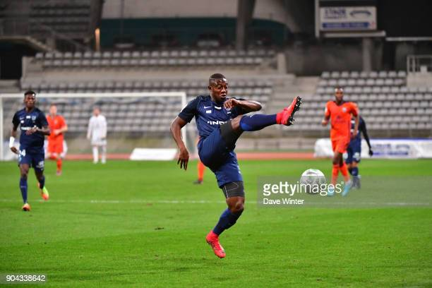 Ousmane Sidibe of Paris FC during the Ligue 2 match between Paris FC and Bourg en Bresse at Stade Charlety on January 12 2018 in Paris France