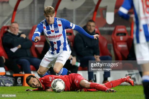 Oussama Assaidi of FC Twente Martin Odegaard of SC Heerenveen during the Dutch Eredivisie match between Fc Twente v SC Heerenveen at the De Grolsch...