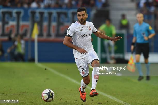 Oussama HADDADI of Dijon during the French Ligue 1 match between Montpellier and Dijon at Stade de la Mosson on August 11 2018 in Montpellier France