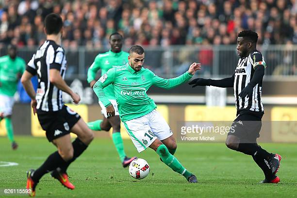 Oussama Tannane of Saint Etienne during the French Ligue 1 match between Angers and Saint Etienne on November 27 2016 in Angers France