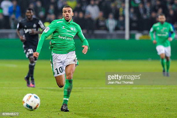 Oussama TANNANE of Saint Etienne during the Ligue 1 match between AS SaintEtienne and Olympique de Marseille at Stade GeoffroyGuichard on November 30...
