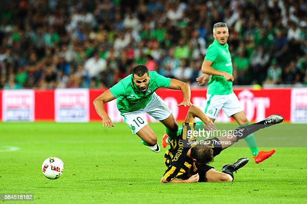 Oussama TANNANE of Saint Etienne during the Third Qualifying Round Europa League between Saint Etienne and AEK Athnes at Stade GeoffroyGuichard on...