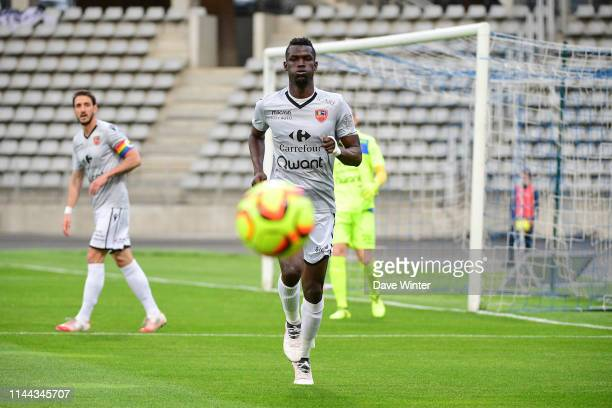 Ousseynou Ba of Gazelec Ajaccio during the Ligue 2 match between Paris FC and Gazelec Ajaccio at Stade Charlety on May 17 2019 in Paris France