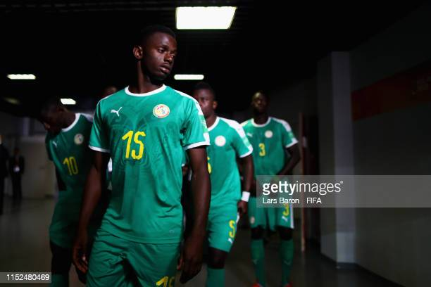 Ousseynou Niang of Senegal walks out to play the second half during the 2019 FIFA U20 World Cup group A match between Senegal and Poland at Lodz...