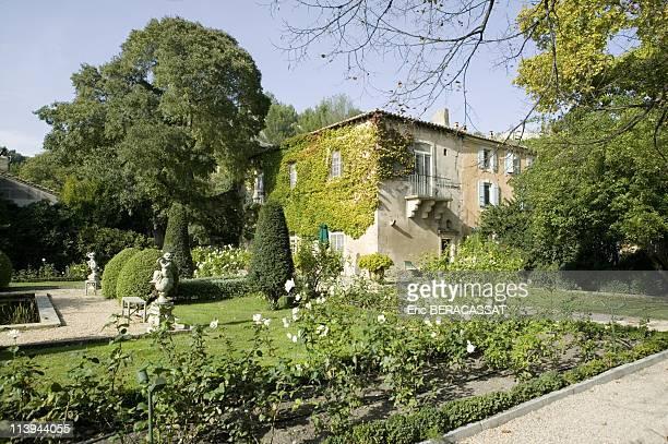 L'oustau De Baumaniere In Les Baux De Provence France On October 27 2006The gardens of the Manor belonging to the domain of L'Oustau de Baumaniere