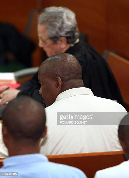 Ousted Anjouan leader Mohamed Bacar sits on June 5 2008 at the court of appeals in the French Indian territory of Reunion in SaintDenisdelaReunion...