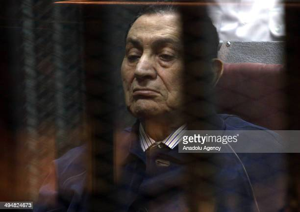 Ousted president of Egypt Hosni Mubarak stand trial with accusation of 'command of killing demonstrators' in Police Academy in Cairo, Egypt on 31...