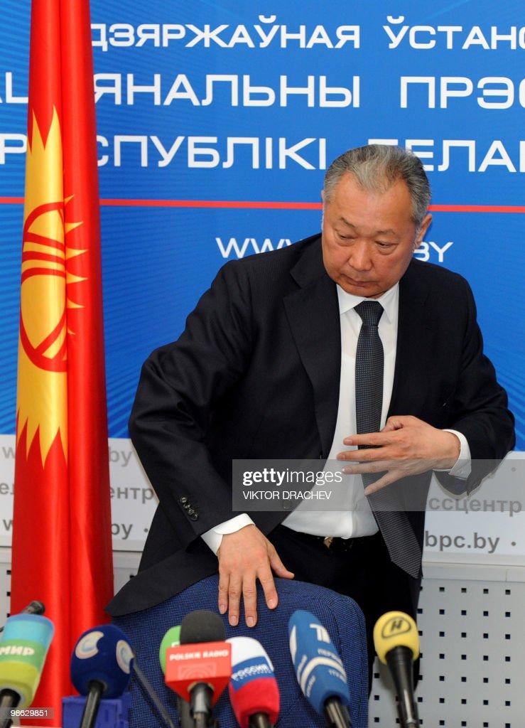 Ousted president of Kyrgyzstan Kurmanbek : Nieuwsfoto's