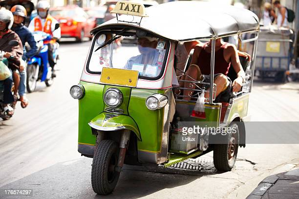out and about in thailand - auto rickshaw stock pictures, royalty-free photos & images