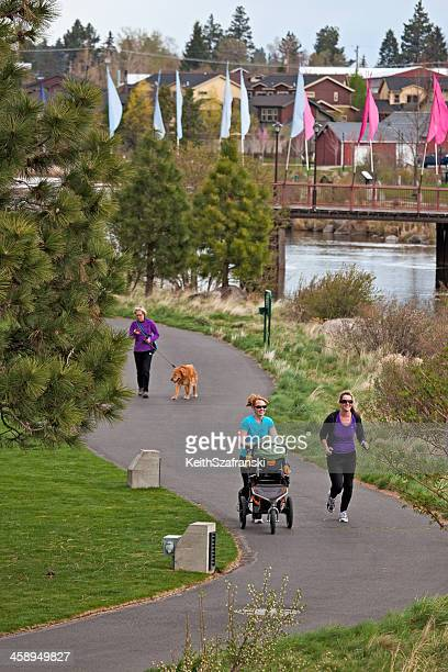 out for a stroll - bend oregon stock photos and pictures