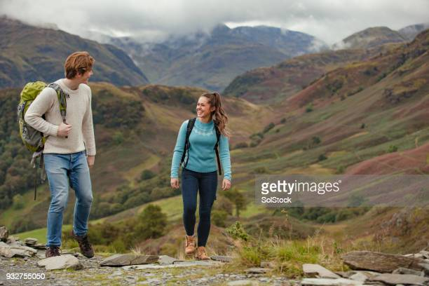 out for a walk - english lake district stock pictures, royalty-free photos & images