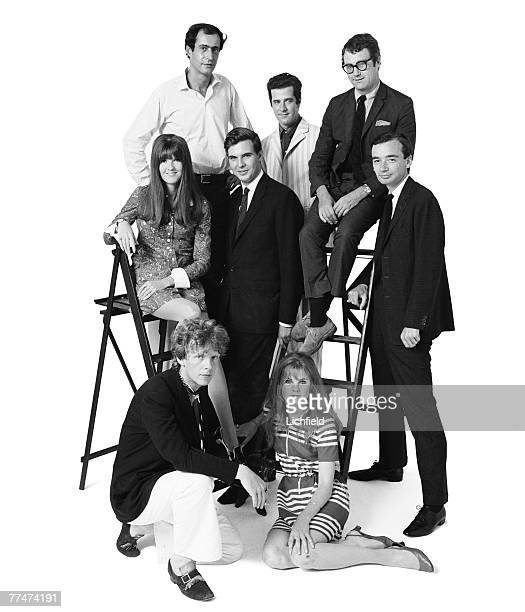 Out Group commissioned by Jocelyn Stevens on 18th July 1967 Back row Tom Maschler David Benedictus Nicholas Tomalin centre row Cathy McGowan Jonathan...