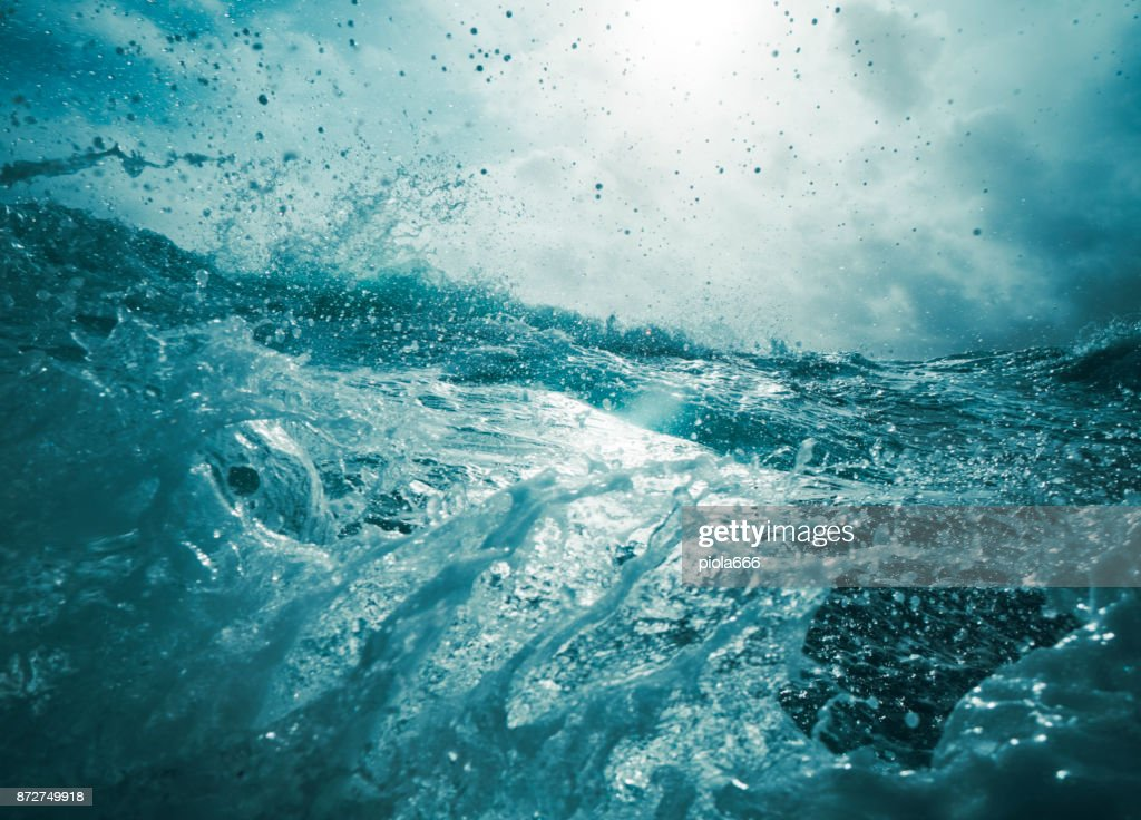 Out in a rough sea : Stock Photo