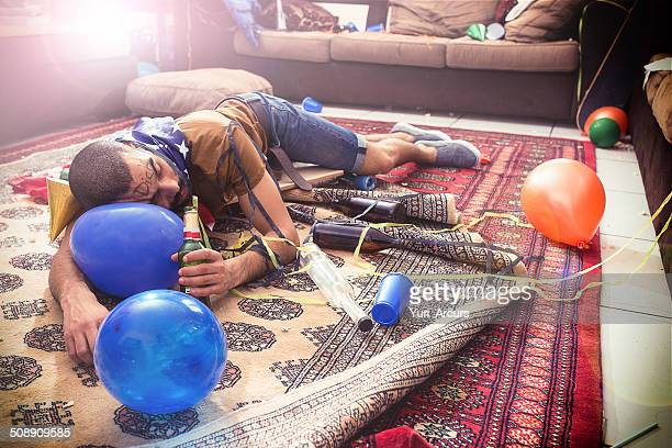 out like a light - hangover after party stock pictures, royalty-free photos & images
