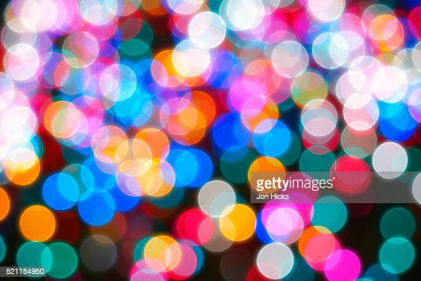 out of focus christmas tree lights, new york city. - soft focus stock pictures, royalty-free photos & images