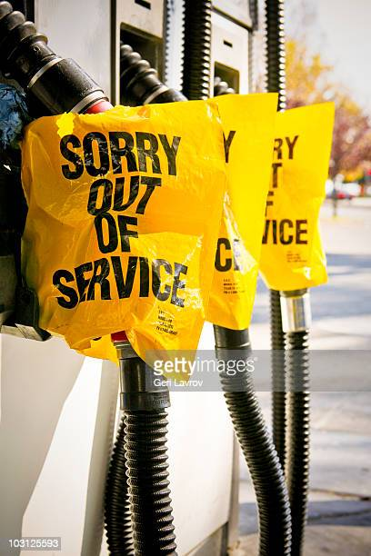 Out of service gas pumps