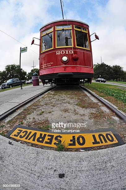 Out of service of New Orleans Streetcar