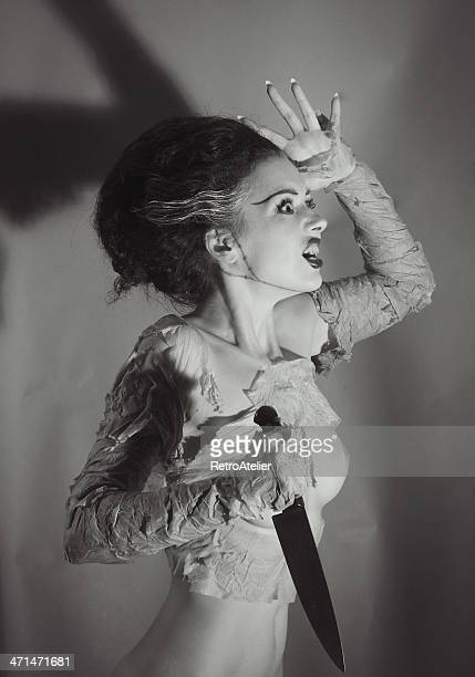 out of time.frankenstein`s bride - frankenstein stock photos and pictures