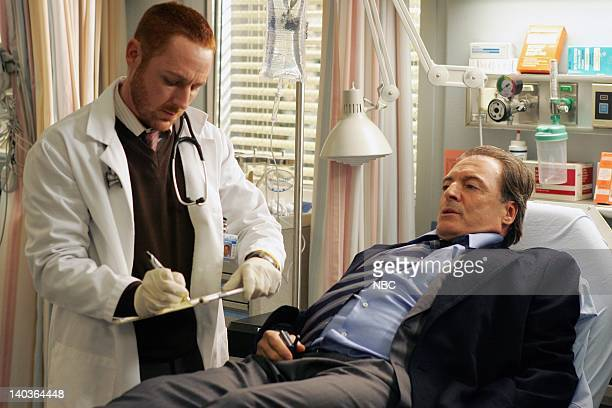 ER 'Out on a Limb' Episode 16 Air Date Pictured Scott Grimes as Doctor Archie Morris Armand Assante as Richard Elliott Photo by Justin Lubin/NBCU...
