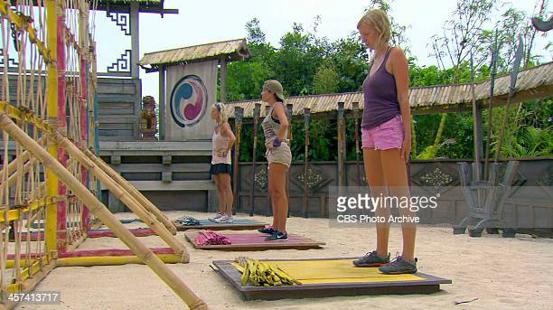 Out On A Limb Tina Wesson Laura Morett and Katie Collins during the thirteenth episode of SURVIVOR BLOOD VS WATER Wednesday Dec 11 on the CBS...