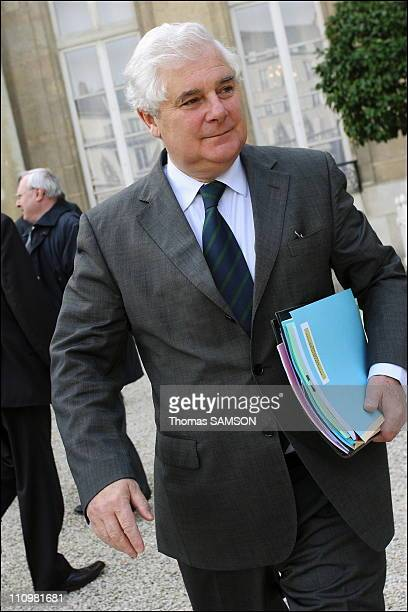 Out put of Council Minister in Paris France on November 15th 2006 Pascal Clement Minister of Justice