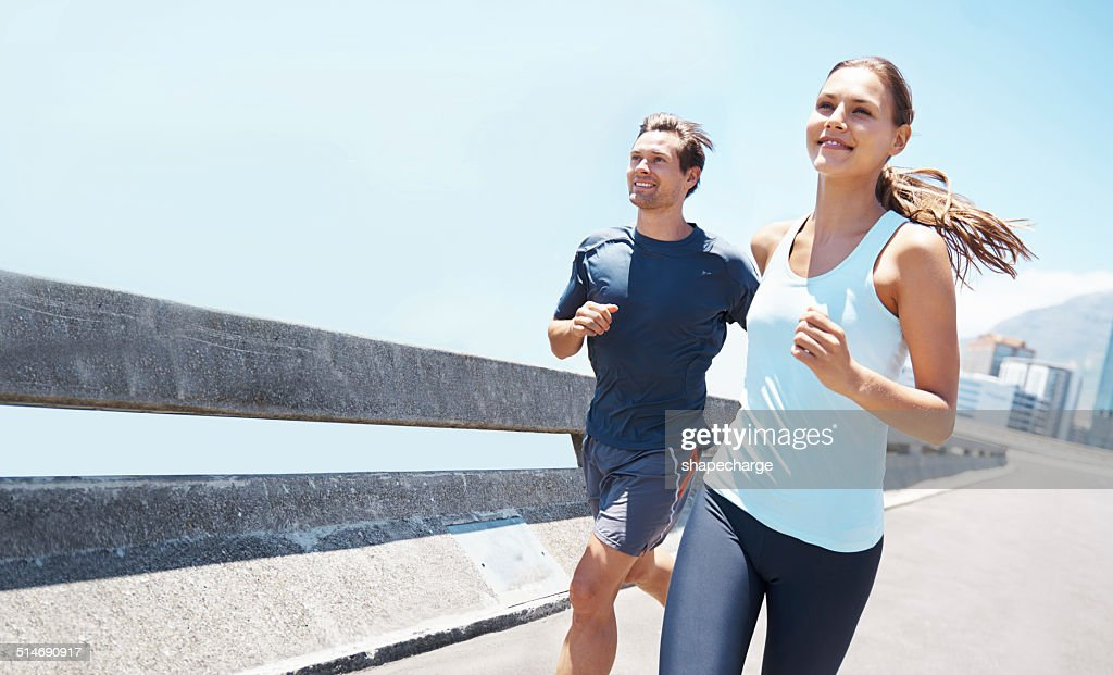 Out running on a beautiful day : Stock Photo