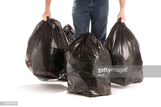 Avec la poubelle
