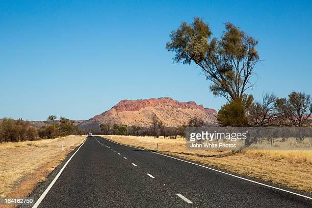 Outback Highway. Alice Springs. Australia.